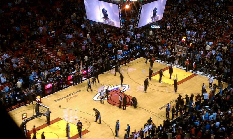 Seating view for American Airlines Arena Section 402