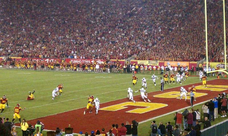 Seating view for Los Angeles Memorial Coliseum Section 3 Row 24 Seat 103