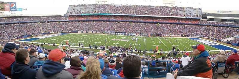 Seating view for New Era Field Section 133 Row 45 Seat 1