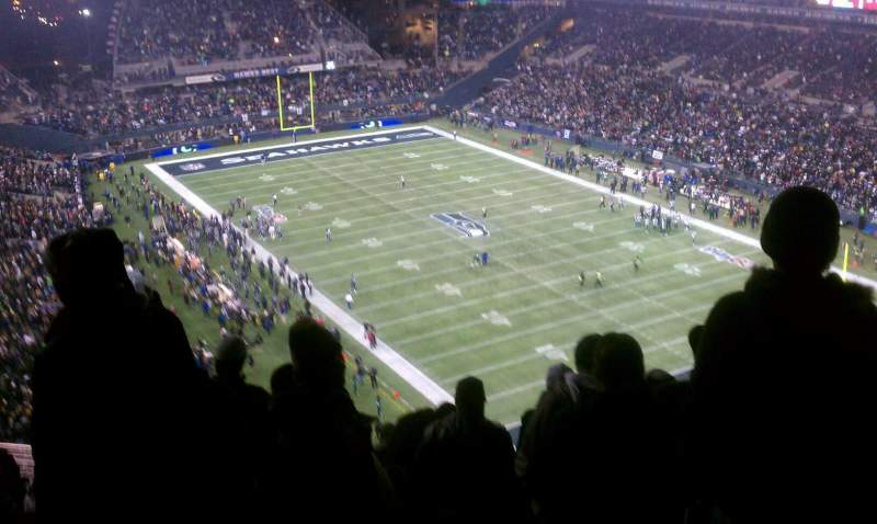 Seating view for CenturyLink Field Section 327 Row 17 Seat 4