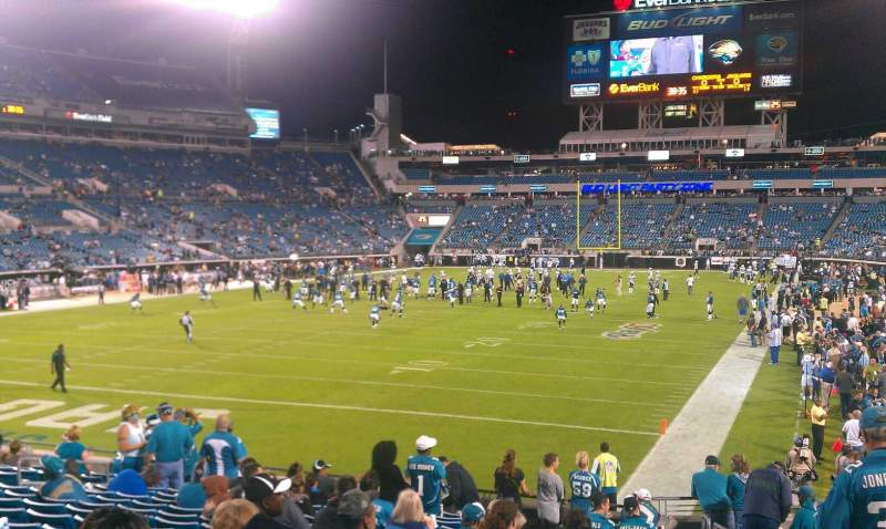 Seating view for Everbank Field Section 121
