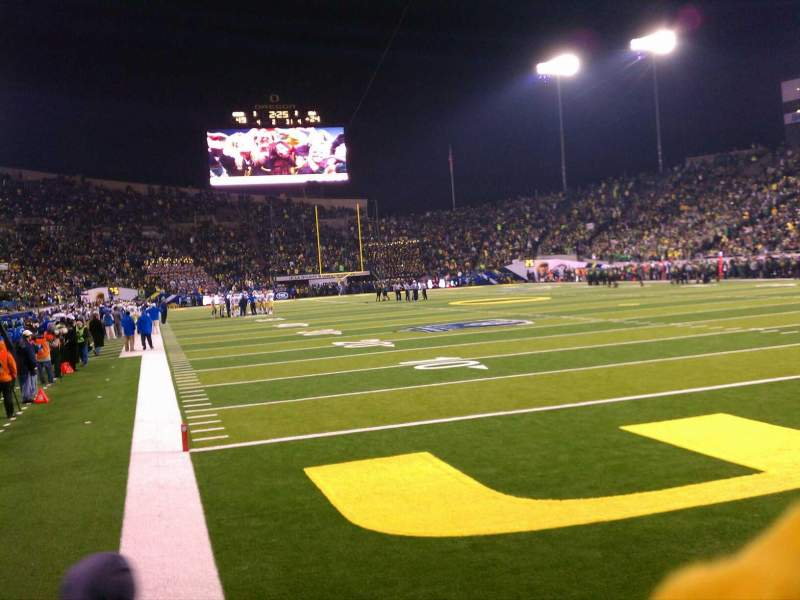 Seating view for Autzen Stadium Section 24 Row 4 Seat 7