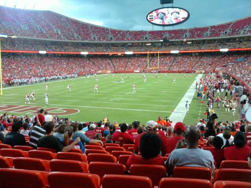 Seating view for Arrowhead Stadium Section 125