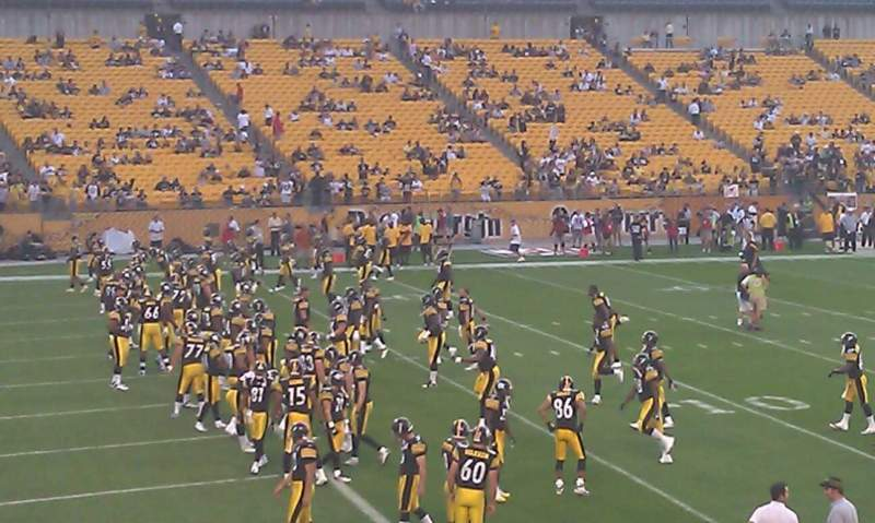 Seating view for Heinz Field Section 106 Row p Seat 2