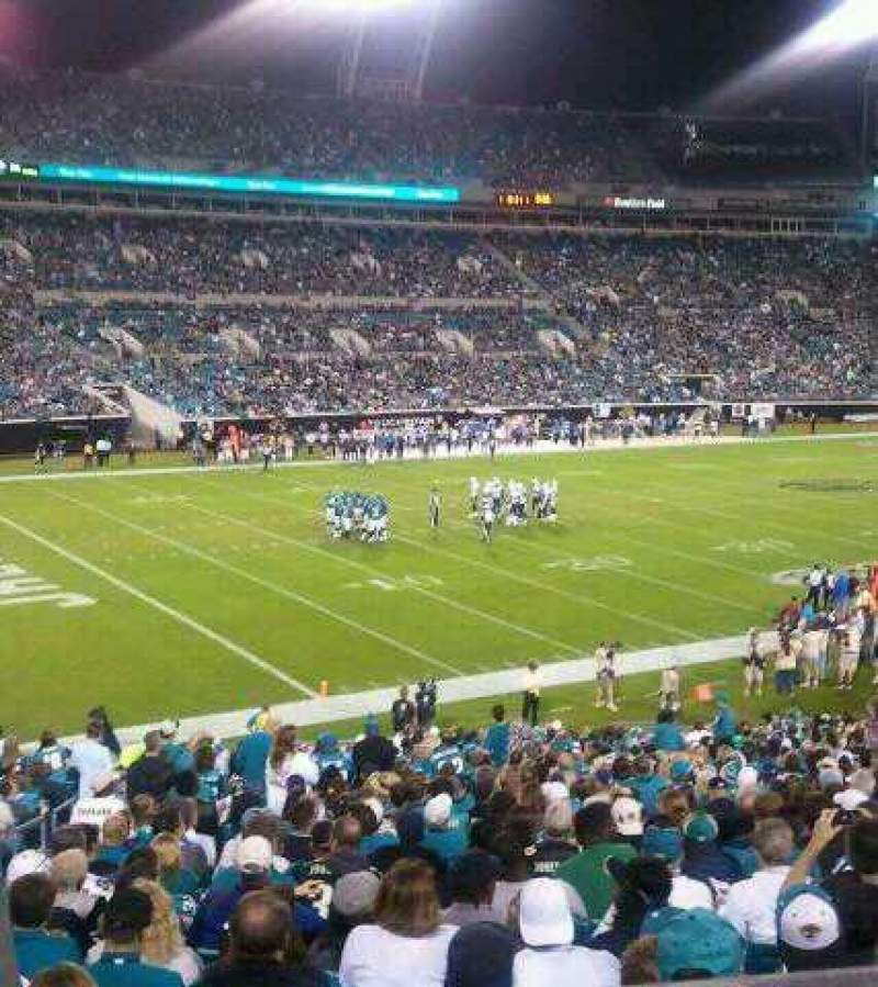 Seating view for EverBank Field Section 242 Row B Seat 8