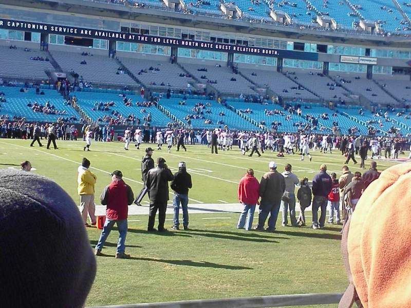 Seating view for Bank of America Stadium Section 115 Row 2 Seat 10