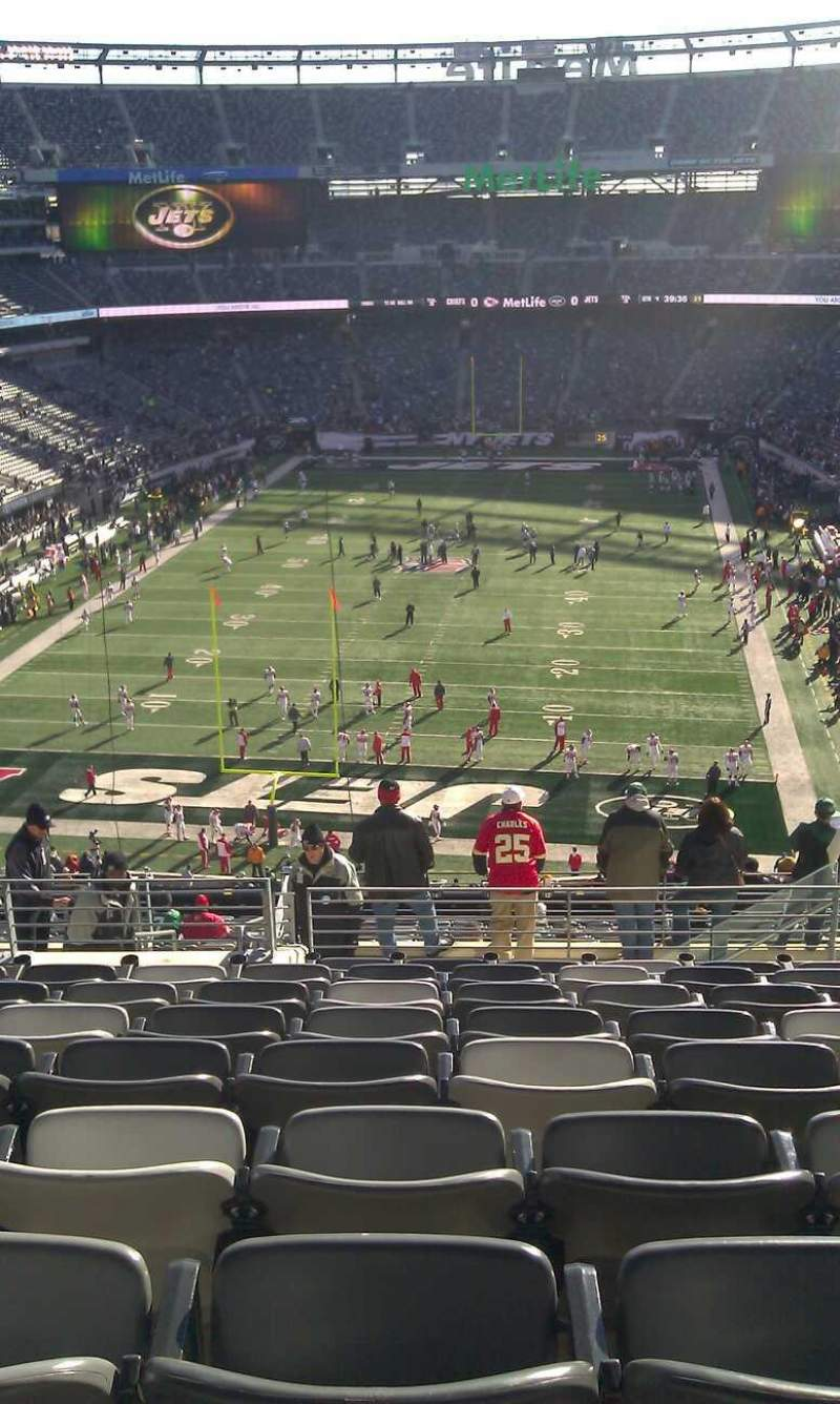 Seating view for Metlife Stadium Section 250B Row 11