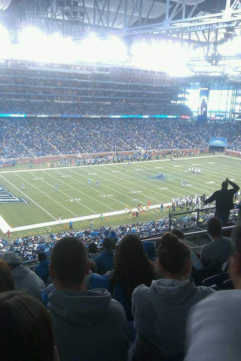 Seating view for Ford Field Section 326 Row 9 Seat 6