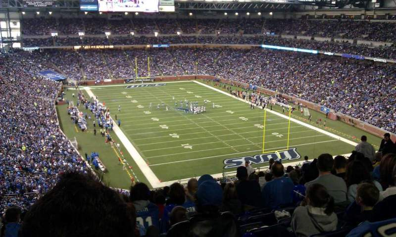 Seating view for Ford Field Section 315 Row 21 Seat 15