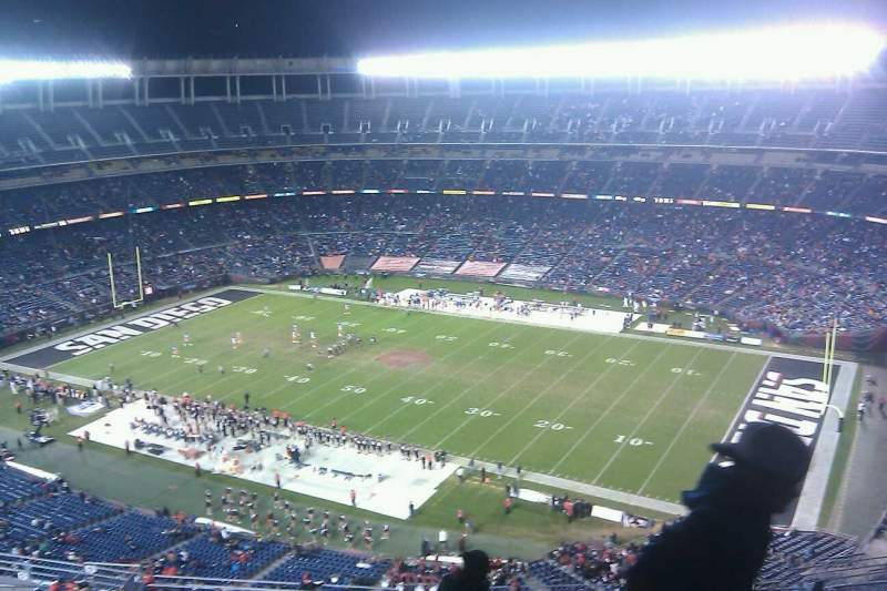 Seating view for Qualcomm Stadium Section V43