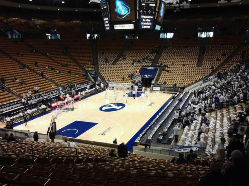 Seating view for Marriott Center Section 2 Row 27 Seat 12