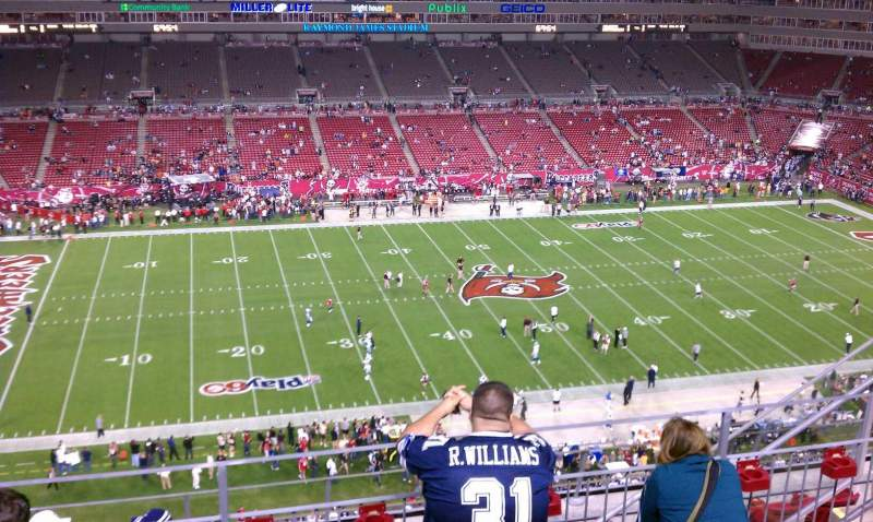Seating view for Raymond James Stadium Section 333 Row E Seat 16