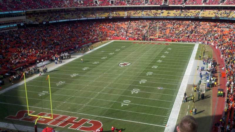 Seating view for Arrowhead Stadium Section 310 Row 11 Seat 18