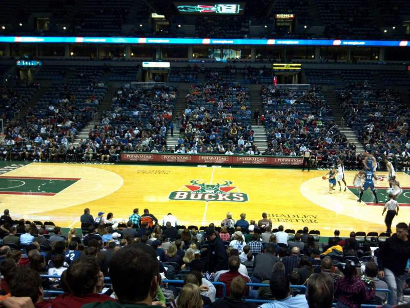 Seating view for BMO Harris Bradley Center Section 214 Row S Seat 6