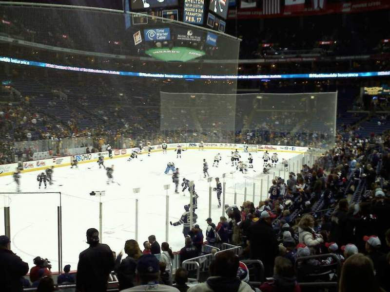 Seating view for Nationwide Arena Section 118 Row S Seat 16