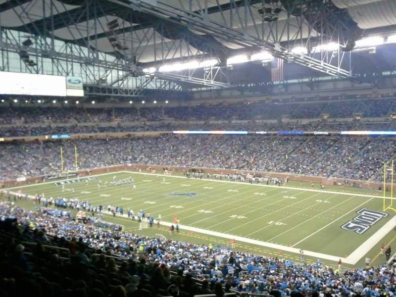 Seating view for Ford Field Section 214 Row 16 Seat 2