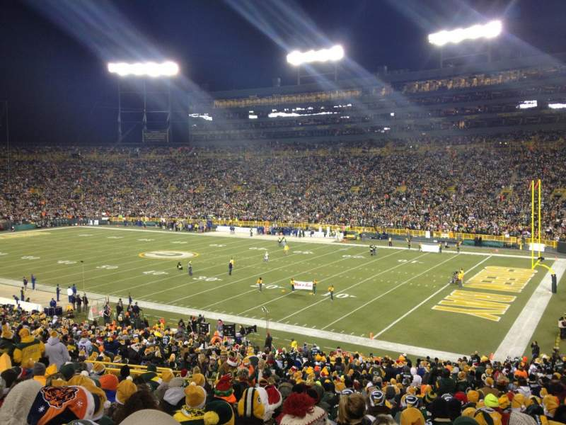 Seating view for Lambeau Field Section 109 Row 44 Seat 11