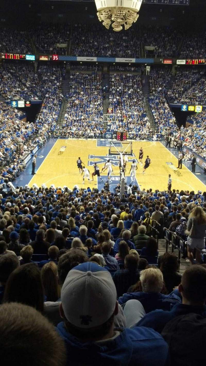 Seating view for Rupp Arena Section 40 Row R Seat 4