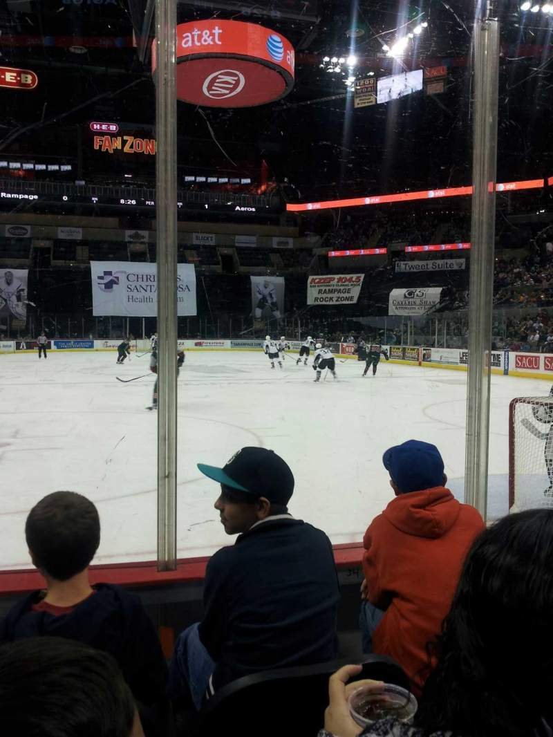 Seating view for AT&T Center Section 101 Row 8 Seat 6