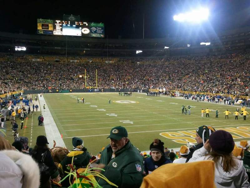 Seating view for Lambeau Field Section 136 Row 24 Seat 1