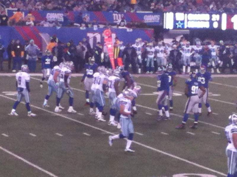 Seating view for Metlife Stadium Section 117 Row 9 Seat 3