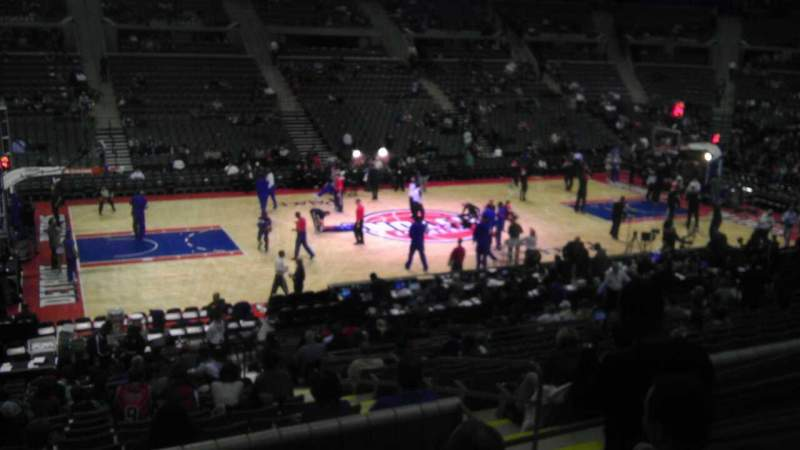 Seating view for The Palace of Auburn Hills Section 115 Row K Seat 05