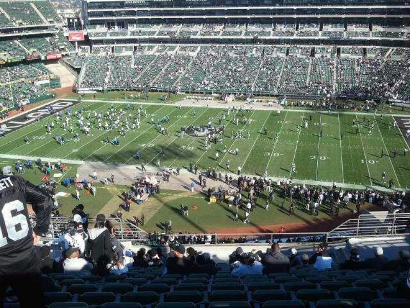 Seating view for Oakland Alameda Coliseum Section 315 Row 16 Seat 10