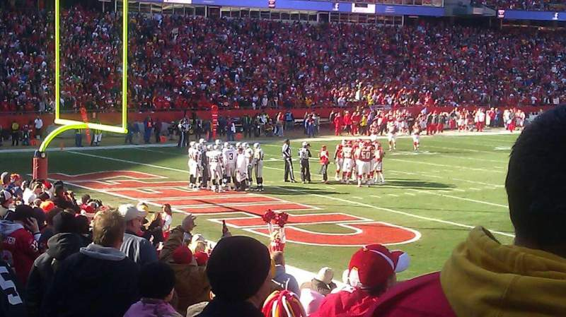 Seating view for Arrowhead Stadium Section 107 Row 16 Seat 13