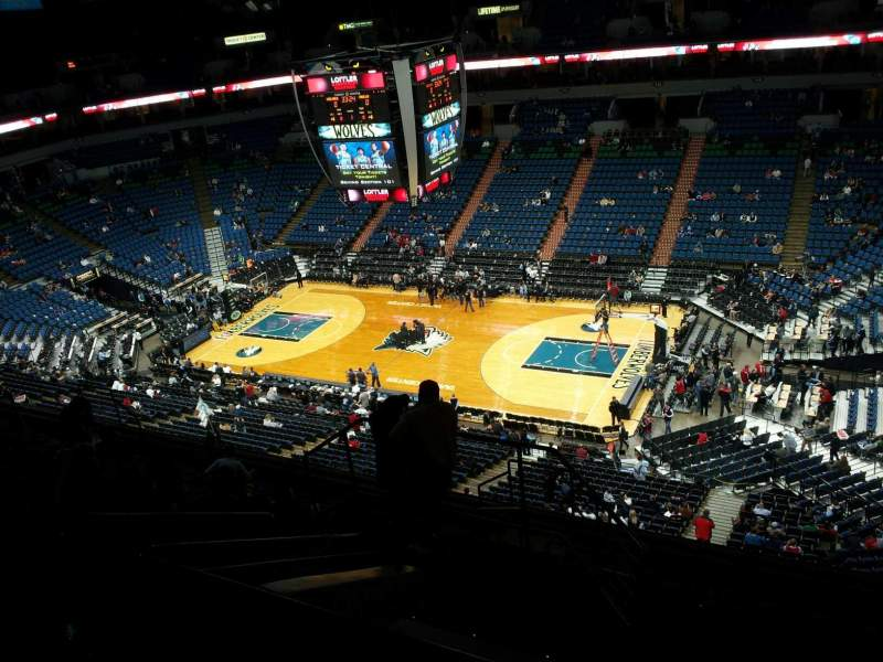Seating view for Target Center Section 228 Row L Seat 9