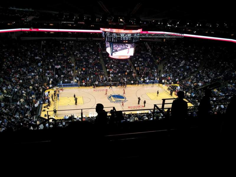 Seating view for Oracle Arena Section 218 Row 12 Seat 4