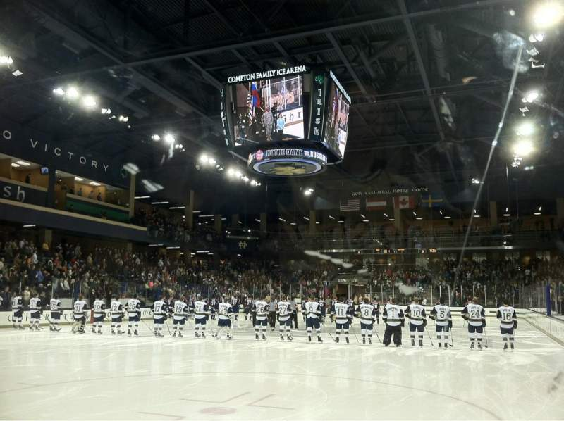 Seating view for Compton Family Ice Arena Section 17 Row 1 Seat Q12