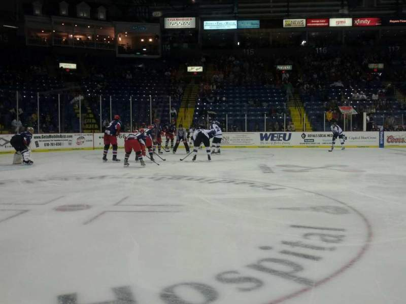 Seating view for Santander Arena Section 107 Row A Seat 9