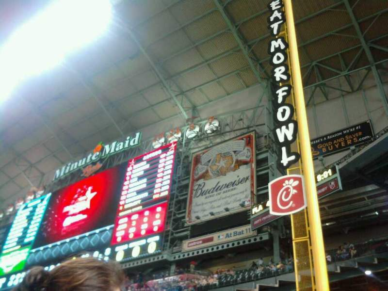 Seating view for Minute Maid Park Section 108 Row 3 Seat 1