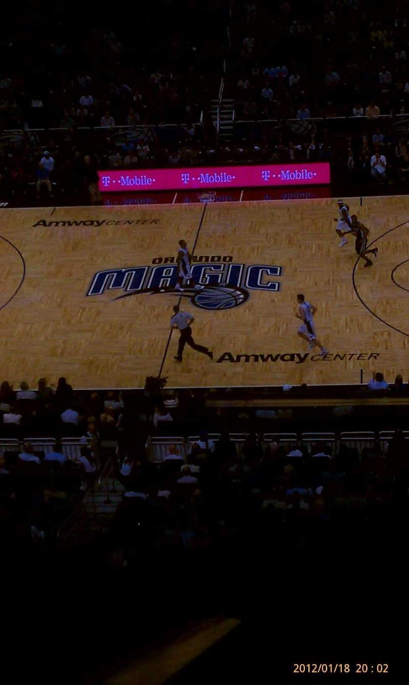 Seating view for Amway Center Section club seat
