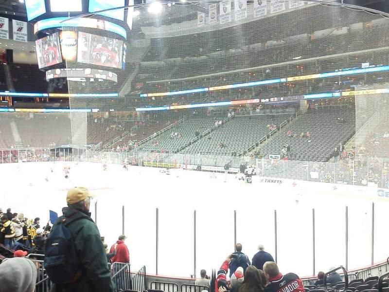 Seating view for Prudential Center Section 22 Row 13 Seat 3