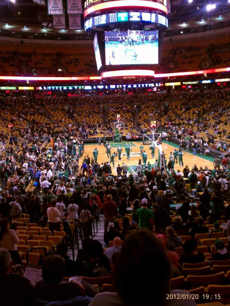 TD Garden section Loge 18 row 19 seat 11 Boston Celtics vs
