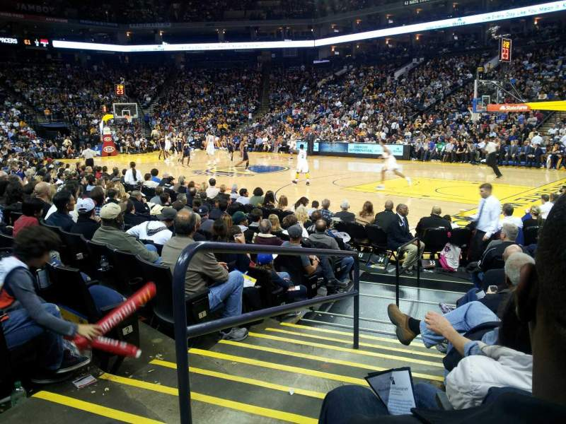 Seating view for Oracle Arena Section 110 Row 5 Seat 20