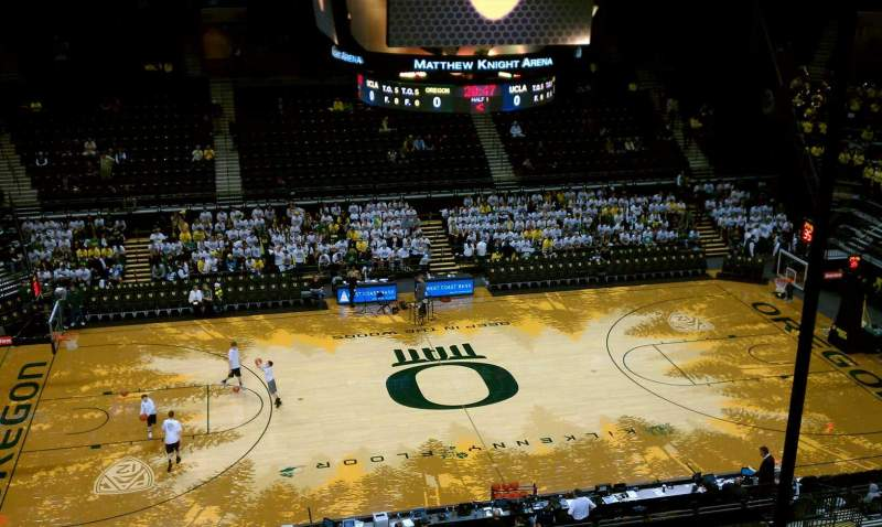 Seating view for Matthew Knight Arena Section 204 Row A Seat 1