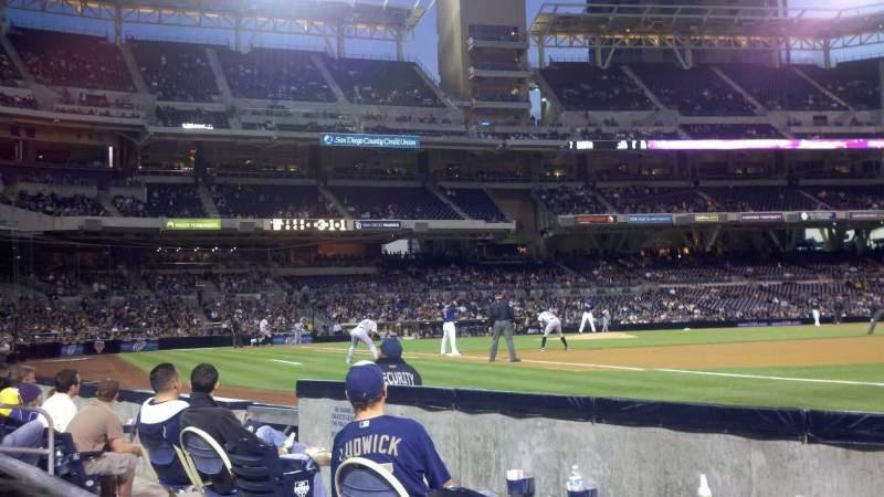 Seating view for PETCO Park Section 115 Row 4