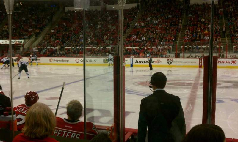 Seating view for PNC Arena Section 104 Row 3 Seat 4