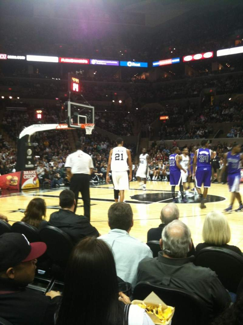 Seating view for AT&T Center Section 22 Row 5 Seat 5