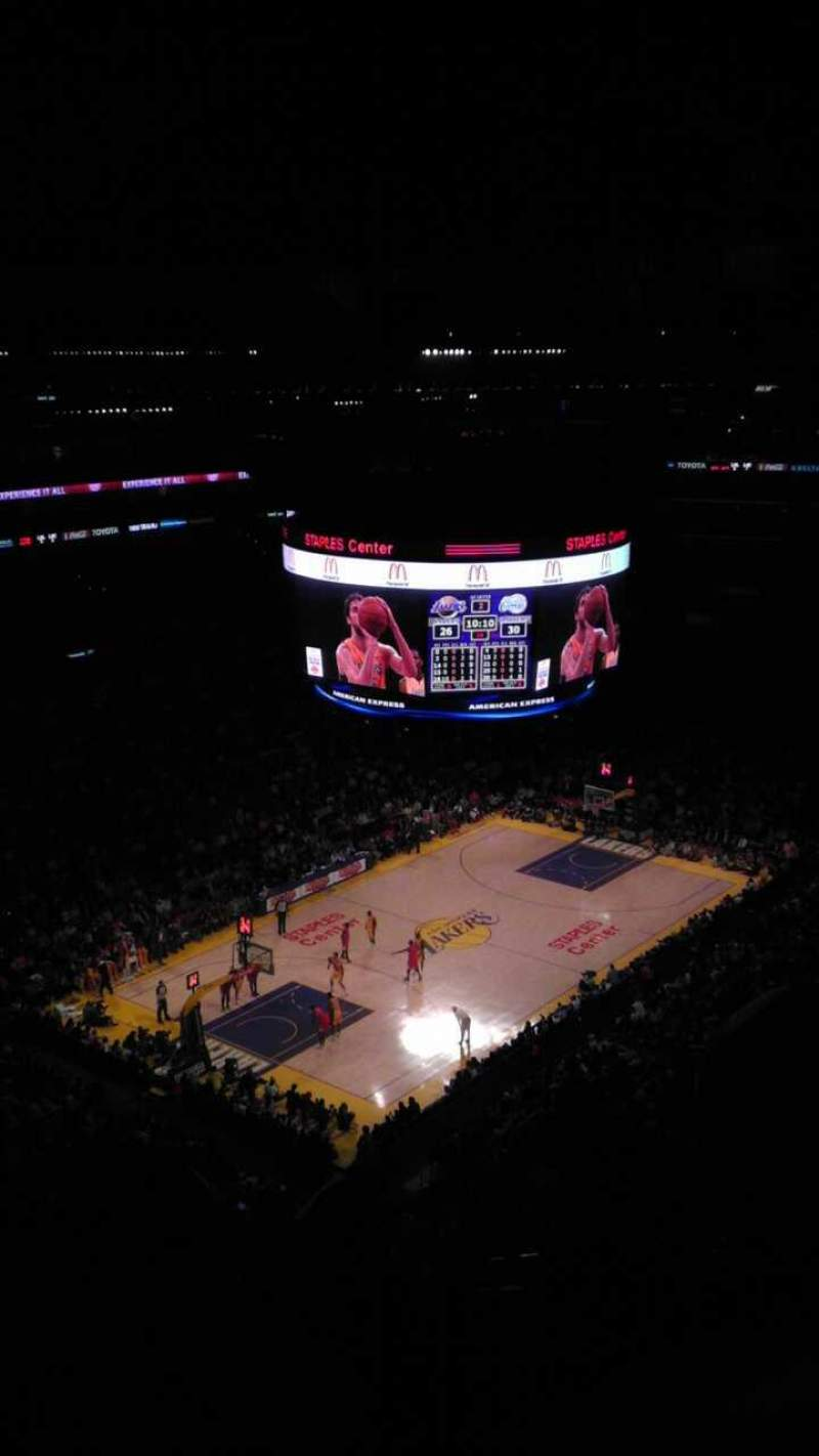 Seating view for Staples Center Section 322