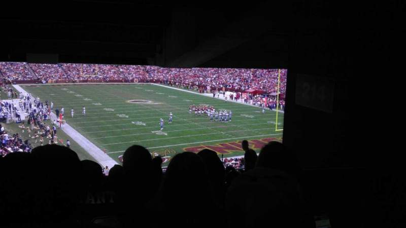 Seating view for FedEx Field Section 214 Row 18 Seat 14