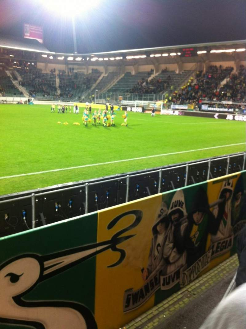 Seating view for Kyocera Stadion Section O Row 2 Seat 10