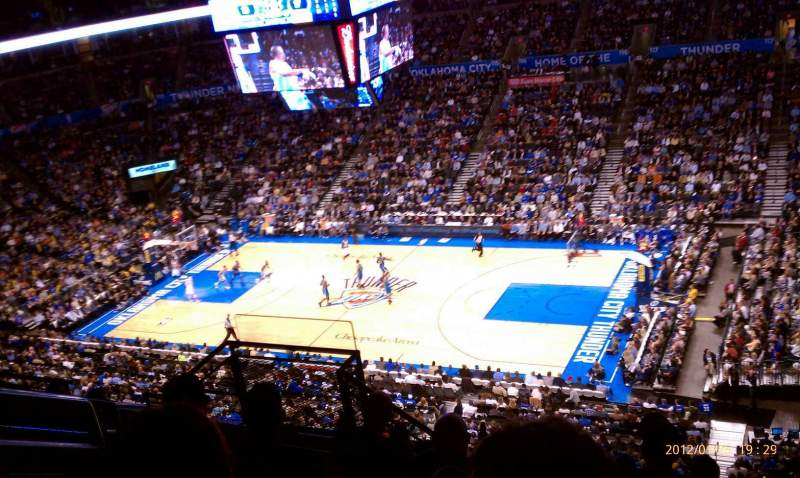 Seating view for Chesapeake Energy Arena Section 306 Row H