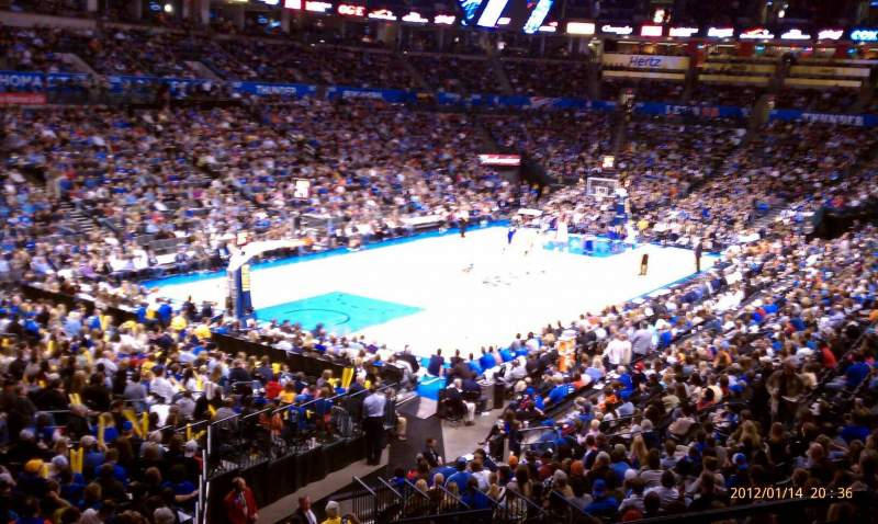 Seating view for Chesapeake Energy Arena Section 227 Row A
