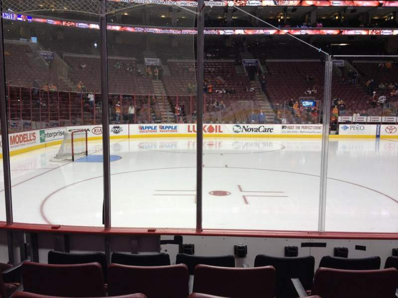 Seating view for Wells Fargo Center Section 111 Row 5 Seat 5