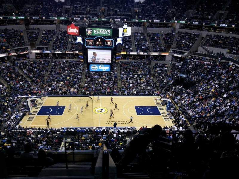 Seating view for Bankers Life Fieldhouse Section 208 Row 8 Seat 24