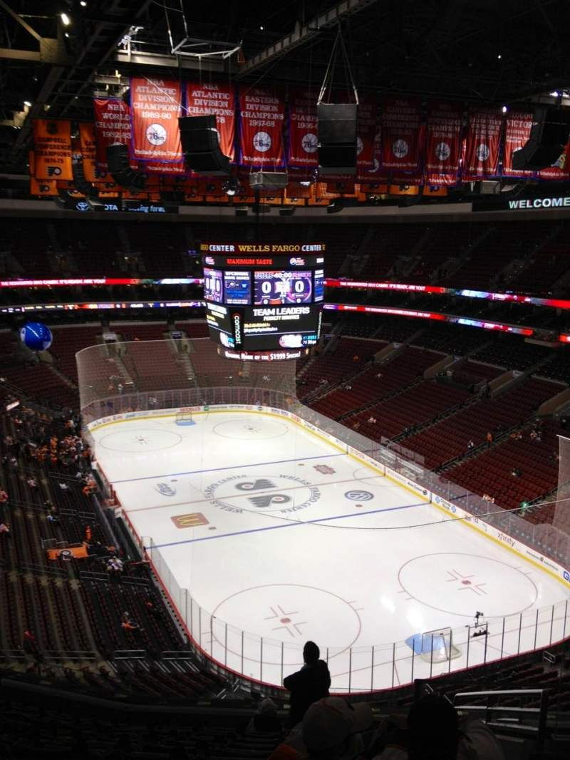 Seating view for Wells Fargo Center Section 205A Row 11 Seat 14
