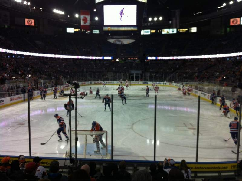 Seating view for Rexall Place Section 110 Row 11 Seat 6